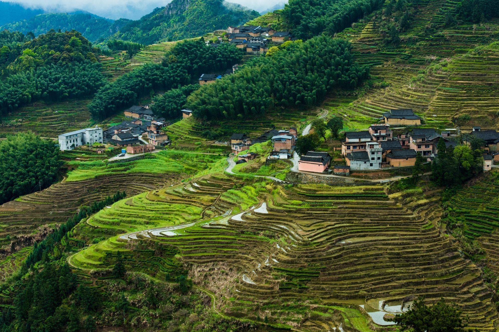 福建最美的梯田之一,藏在宁德福安白云山北侧,极为原生态未开发