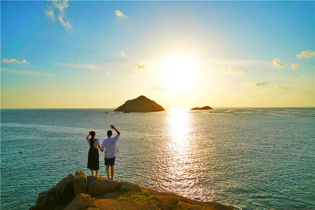 国内最浪漫的海岛,浙江嵊泗东方小希腊,坐船海钓,欣赏唯美日落